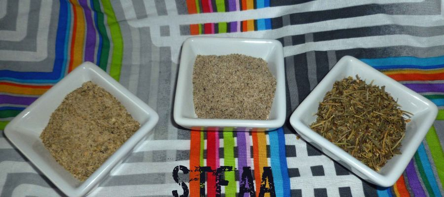 From left to right: Greek Seasoning, Prime Rib Seasoning & Italian Seasoning