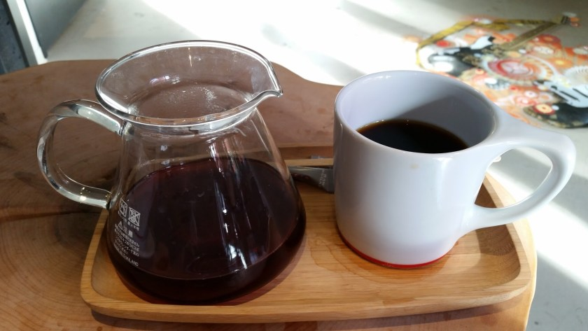 My first Seattle pour-over, single origin coffee