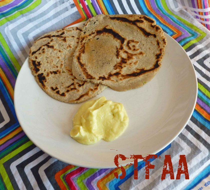 Toum Sauce & Garlic Sorghum Flatbread