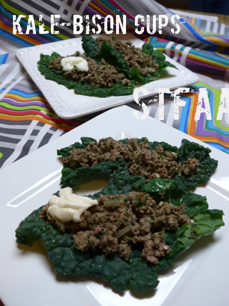 Kale-Bison Cups