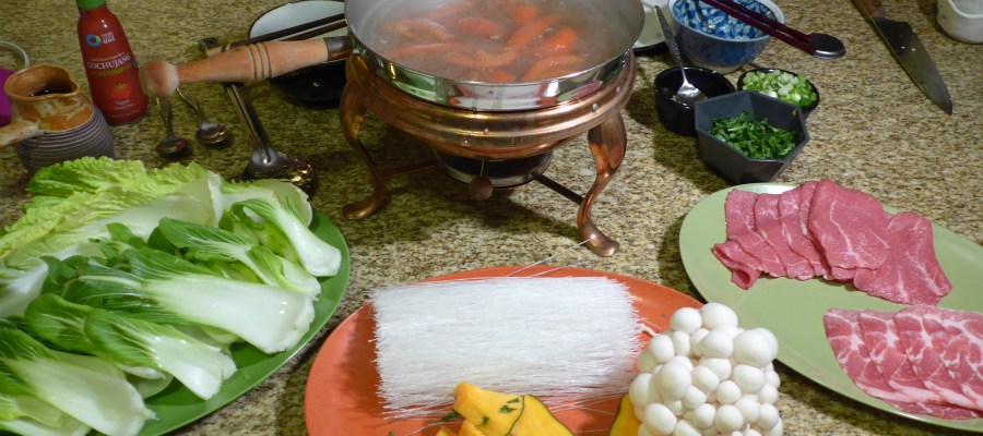 The Hot Pot spread.