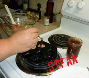 Adding apple butter