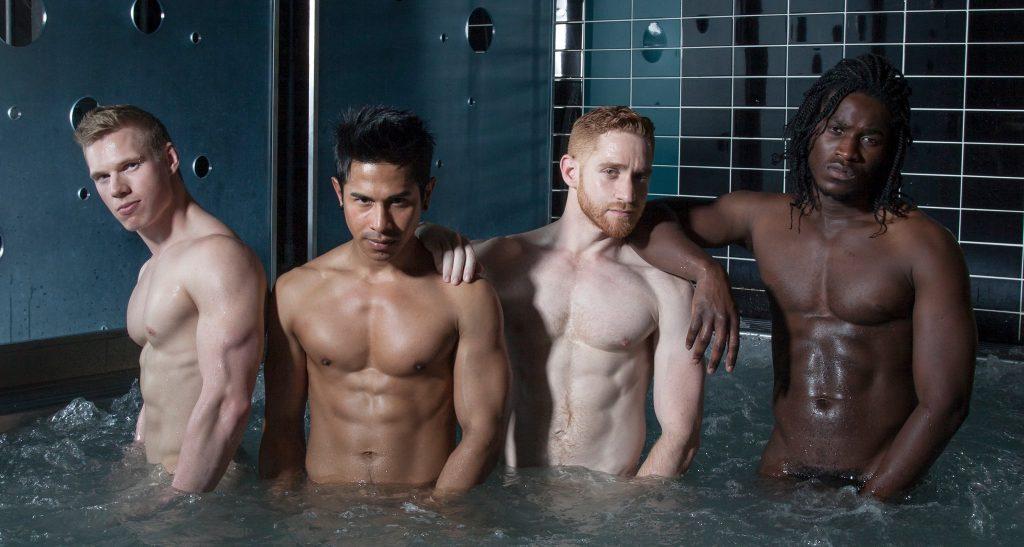 Bath house gay male sex