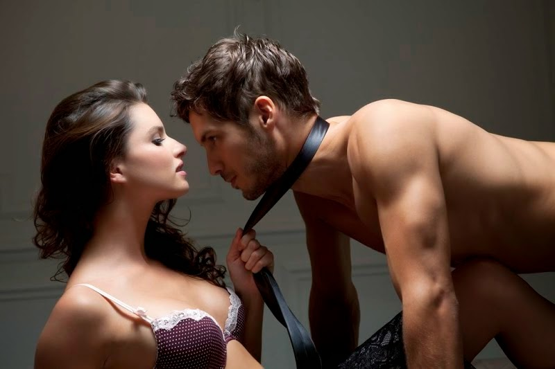Woman with sexual partner with tie