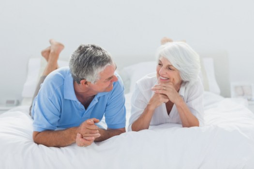 elderly relationship talking thoughtfully