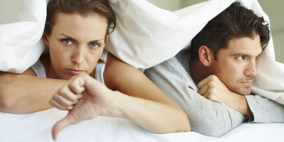 unhappy couple relationship
