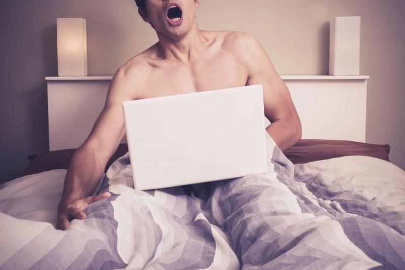 Men in Bed Pleasured