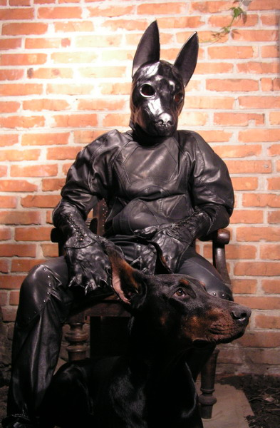 Leather Dog Suit