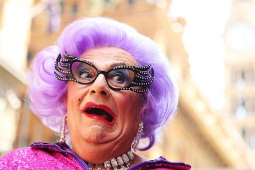 Dame Edna Purple Hair