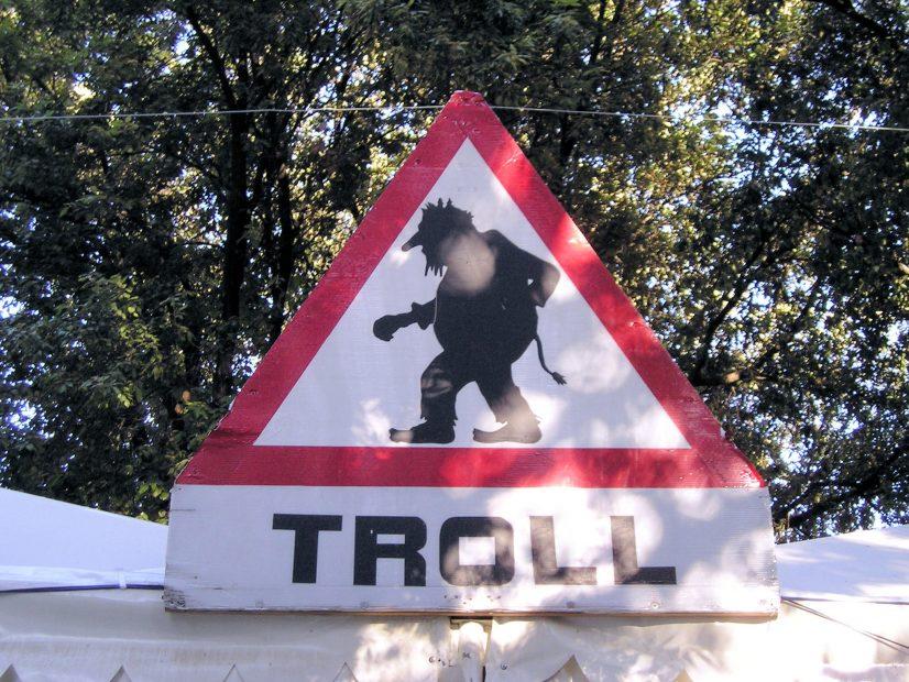 Troll Street Sign