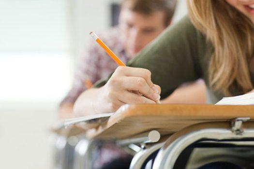 Female Teenager Writing