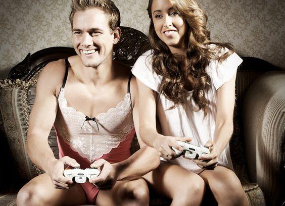 Couple Playing Xbox