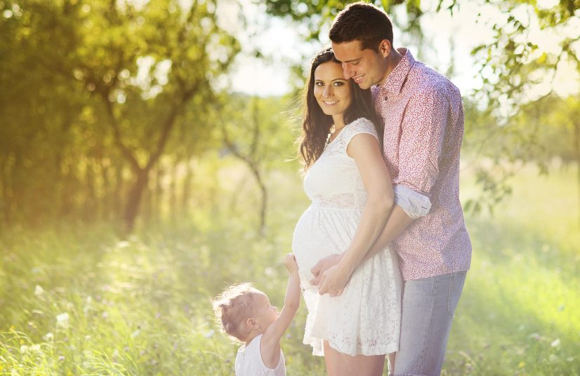 Pregnant Family in Field Photo