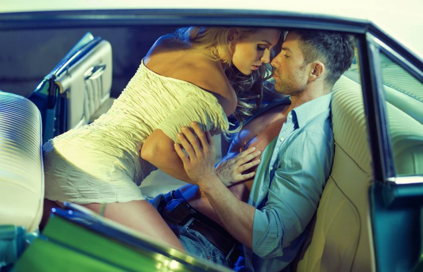 Foreplay in Car Photo