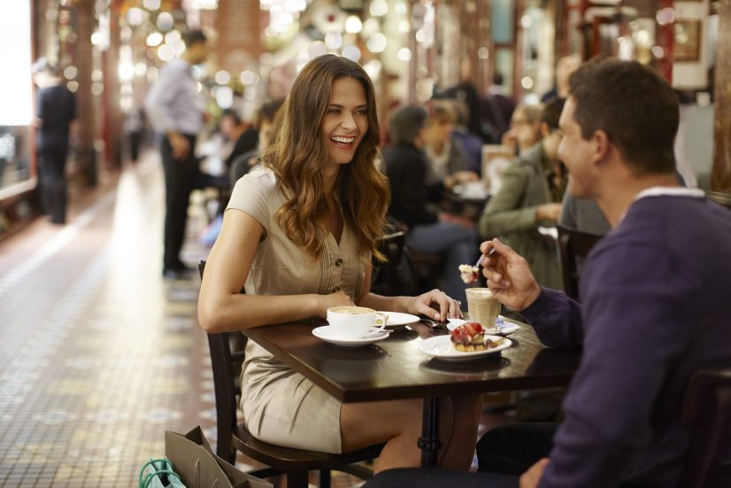 Couple at Cafe for Lunch Photo