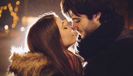 Romantic Eskimo Kiss Photo