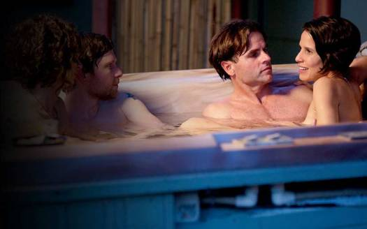 Two Couples in Hot Tub Photo