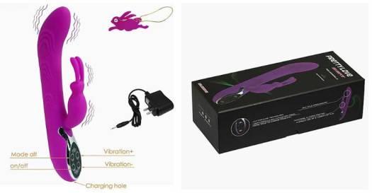 Pretty Love Smart Rabbit Vibrator Package Contents Image