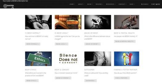 Kink Basics Website Page For Keeping It Kinky
