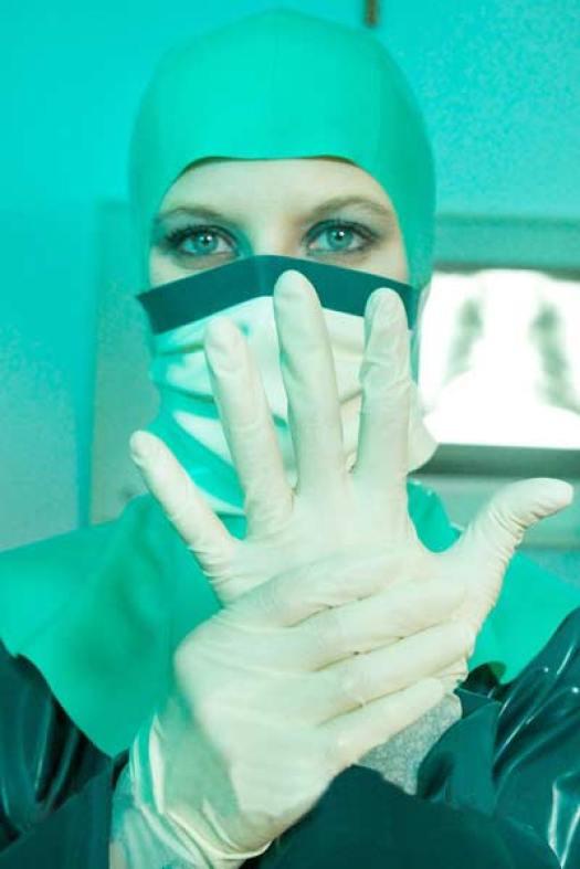 Women Wearing Latex Surgeon Costume