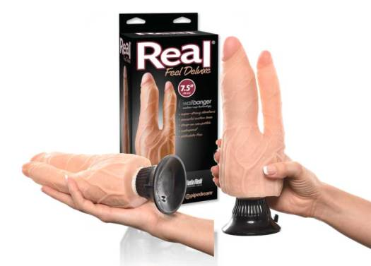 Double Penetration Vibrating Dildo By Pipedream Products