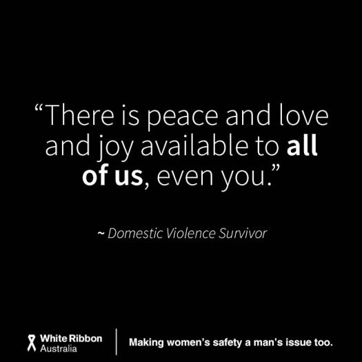 Quote said by a woman who survived domestic violence