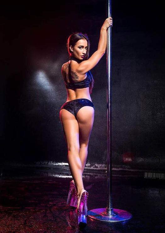 Exotic dancer on a pole