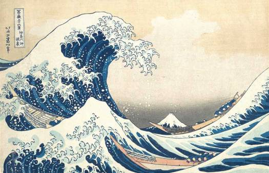Famous japanese print of sea
