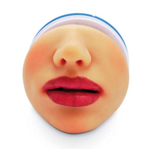 Mens Masturbator with gorgeous red lips