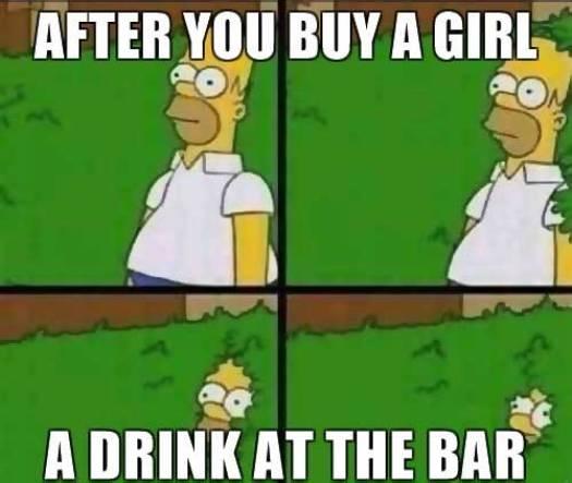 Homer Simpson going into a bush