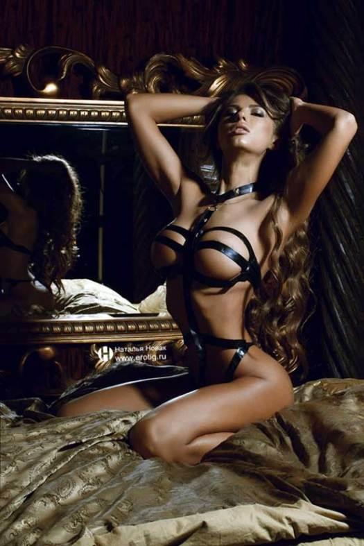 Sexy woman wearing bondage tape