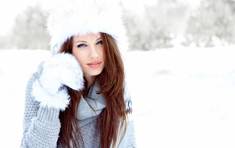 Sexy woman in winter