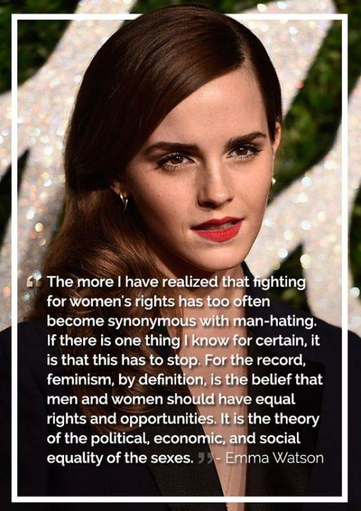 Equal rights with Emma Watson