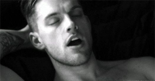 Man orgasming to audio porn