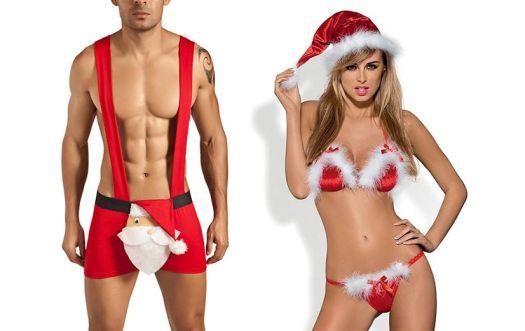 Christmas lingerie for men and women