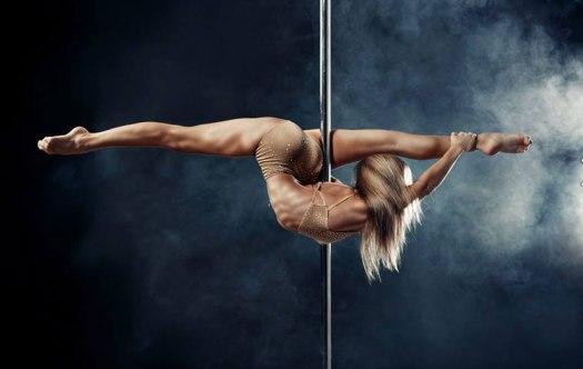 Stripper on a pole