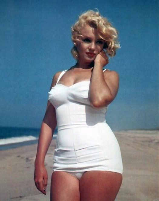 Marilyn Monroe in a swim suit