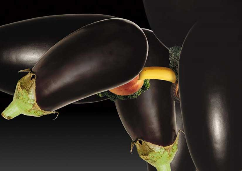 Eggplants having sex