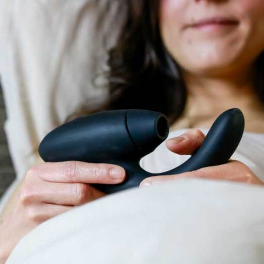 Sex toy for oral and G-spot stimulation