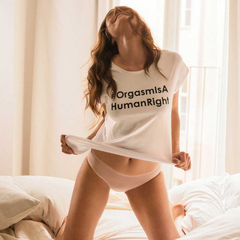 Orgasm is a human right hashtag