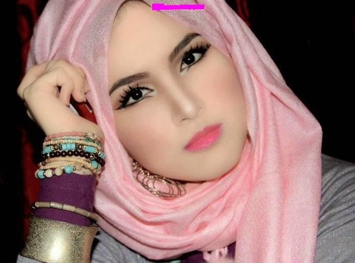 Pink Hijab Woman