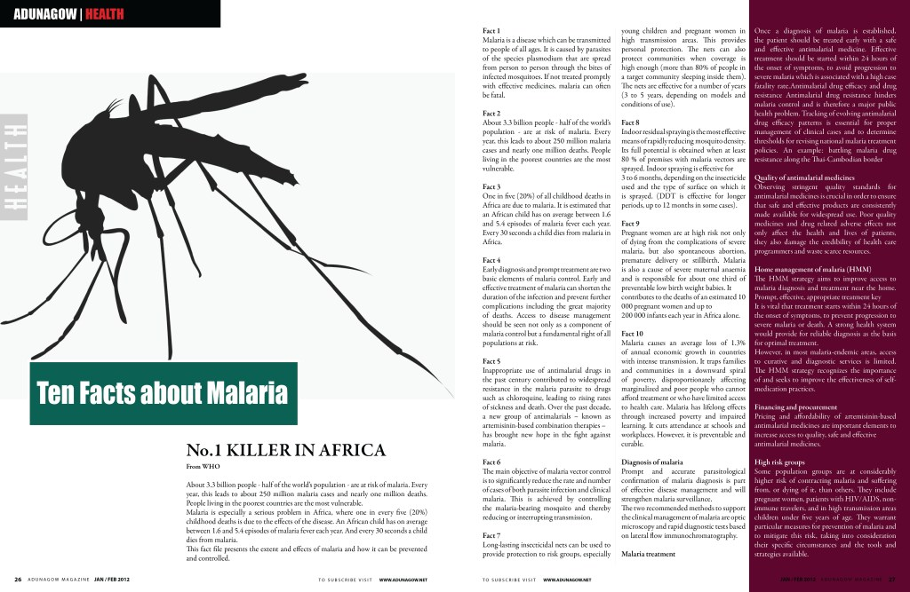 Ten Facts about Malaria