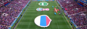 FIFA 2018 World CUP begins with The Host Nation Destroying Its adversary