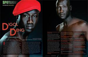 Sudanese model Digol Deng