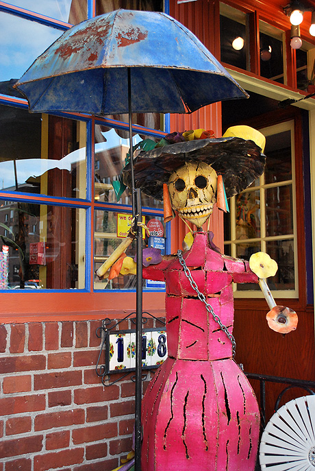 Halloween decorations in Philadelphia