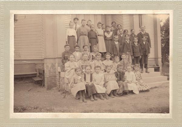 St. Peter's Lutheran School, Helenville, WI, 1906