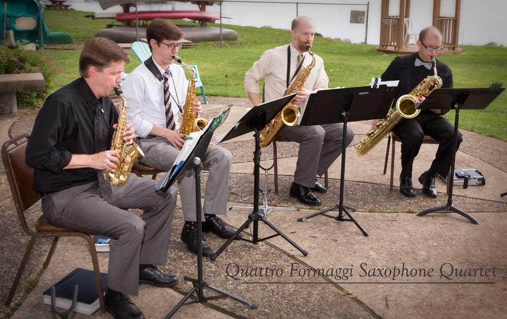 Quattro Formaggi Saxophone Quartet, wedding music in Madison, WI