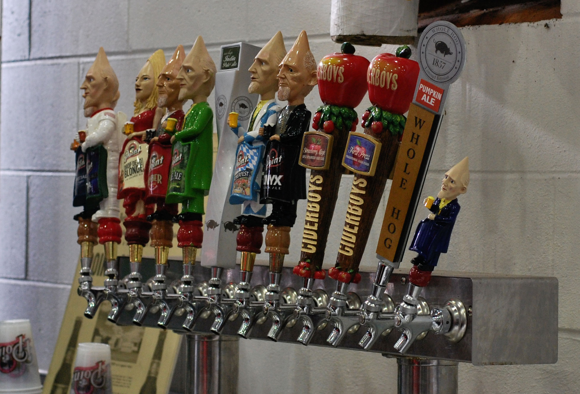 Stevens Point Brewery tappers