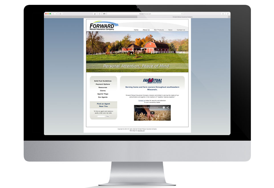Forward Mutual Insurance Company website is now in responsive viewing