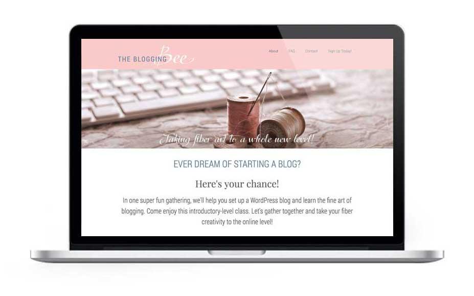 The Blogging Bee website, designed by Adunate.com